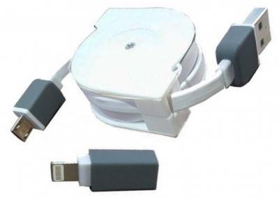 Cáp Dẹp USB 2.0 -> Iphone 5 + Micro USB Unitek (Y-C 440D)